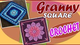 getlinkyoutube.com-Granny Square Design Tejidos a Crochet Hermosos Diseños
