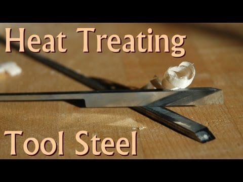 Heat Treating 01 Tool Steel Plane Blank Irons at Home
