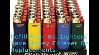 getlinkyoutube.com-How To Refill A Bic Lighter - Instructions and Parts Required Part 1