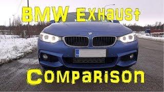 getlinkyoutube.com-BMW Exhaust Sound Comparison: 428i F32 - 435i F32 - 330i E90 - X5 M50d F15