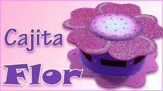 getlinkyoutube.com-Manualidades para regalar: Cajita Flor de goma eva - Manualidades para todos