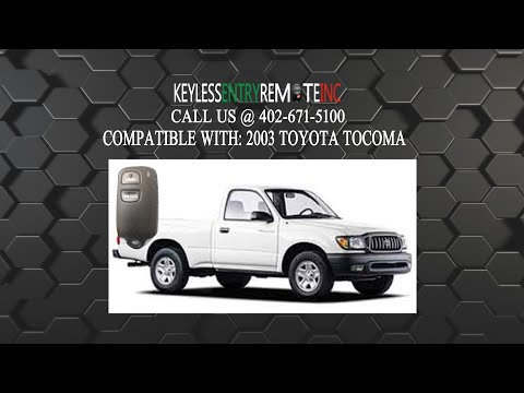 How To Replace Toyota Tocoma Key Fob Battery 2003