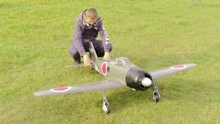 getlinkyoutube.com-MAIDEN / FORCED LANDING RC TOPFLITE GIANT SCALE ZERO SAITO 3 CYL RADIAL 60cc - DEANO AT CMAC - 2015