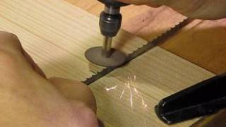 getlinkyoutube.com-How to sharpen a bandsaw blade