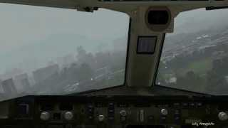 Crazy Kai Tak Approach! World's Most Dangerous Airports