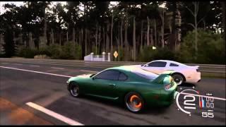 getlinkyoutube.com-Forza 5 | Highway Rolls | 840+hp Turbo Supra Battles 800+hp Whipple GT500 & 750hp Trans am From Roll