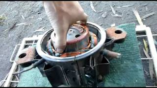 Vintage English Fridge Compressor Disassembly (rotary type)