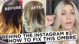 getlinkyoutube.com-Behind the Instagram #2 - How to Fix Brassy Blonde Ombre Hair