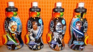 getlinkyoutube.com-Star Wars Surprise Drink Eggs + Toys Unboxing Drinks - Huevos Sorpresa
