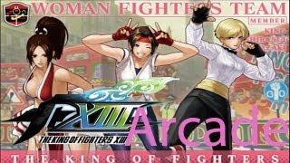 getlinkyoutube.com-The King Of Fighters XIII Arcade - Women Fighters Team