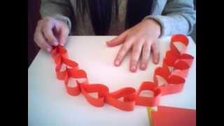 getlinkyoutube.com-Guirnalda de corazones con papel