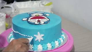 Cara Membuat Kue Ulang Tahun Doraemon Cake Tart Yang Mudah width=