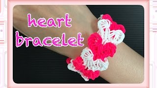 getlinkyoutube.com-FUN  FUN  LOOM  heart bracelet  ファンルーム ハート Valentine
