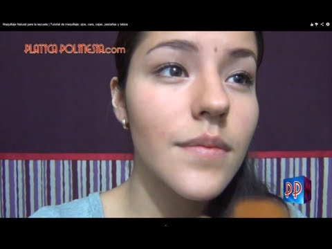 Maquillaje Natural para la escuela | Tutorial de maquillaje: ojos, cara, cejas, pestañas y labios
