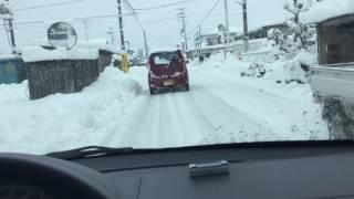 getlinkyoutube.com-予想外の大雪で出勤 豊岡市出石町 2017.1.23