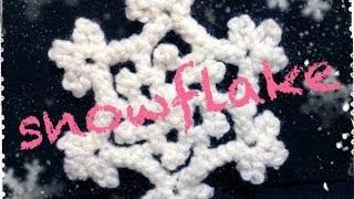 getlinkyoutube.com-雪の結晶の編み方 How to crochet a snowflake  by meetang
