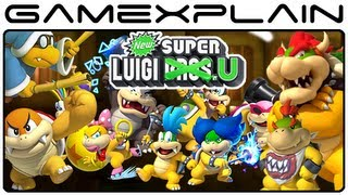 getlinkyoutube.com-All 18 Boss Fights: Boom Boom, Kamek, Koopaling, Bowser Jr, & Bowser in New Super Luigi U