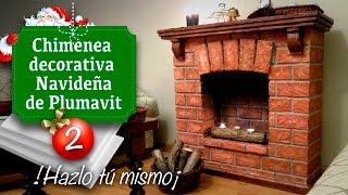 getlinkyoutube.com-Decoración de Navidad / Chimenea (Falsa) de Plumavit - Manualidades - Christmas decoration
