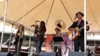 Paul Sanchez  & Rolling  Road Show - Foot of Canal Street - Jazz Fest 2009