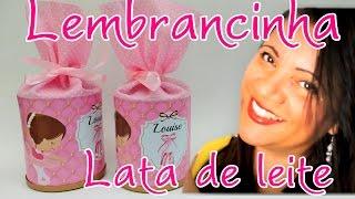getlinkyoutube.com-Como Fazer Lembrancinha fácil com latas de leite
