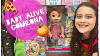 getlinkyoutube.com-Baby Alive Comilona Camilie e Comidinhas Julia Silva