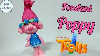 getlinkyoutube.com-How to make fondant Poppy cake topper tutorial (Trolls)