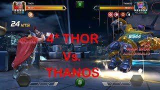 4star thor vs Thanos (uncollected) marvel contest of champion