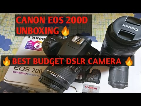Download thumbnail for CANON EOS 200D BUDGET DSLR CAMERA UNBOXING