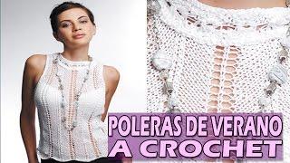 Blusa y Polera De Verano Crop Top - Tejidos A Crochet