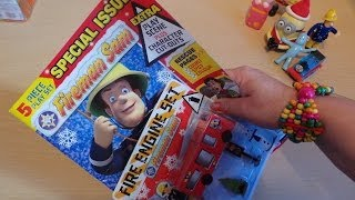 getlinkyoutube.com-FIREMAN SAM MAGAZINE WITH FREE JUPITER FIRE ENGINE TRUCK TOY Comic in English