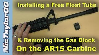 getlinkyoutube.com-AR15 A2 Front Sight & Gas Block Removal for a Free Float Tube Install - PART 1