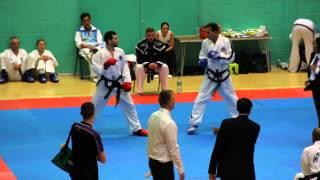 getlinkyoutube.com-ITF Taekwondo sparring - 2013 Unified ITF World Championships, Men's under 70kg Semi Final