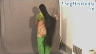 getlinkyoutube.com-Knee Length Thick Long Hair Lady Kamala