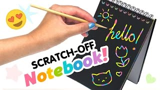 getlinkyoutube.com-DIY Scratch-Off Rainbow Notebook! DIY Weird Back To School Supplies!!