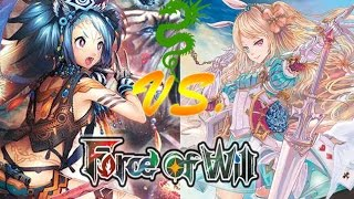 getlinkyoutube.com-Force of Will (TCG) Feature Match: GB Pricia Tempo Vs. 4 Color Alice Valkyrie