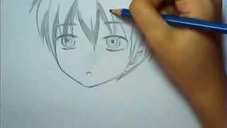 getlinkyoutube.com-easy anime boy drawing ^^
