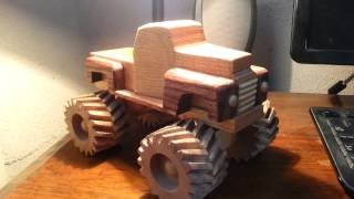 getlinkyoutube.com-Wooden Toy 1948 Ford Monster Truck