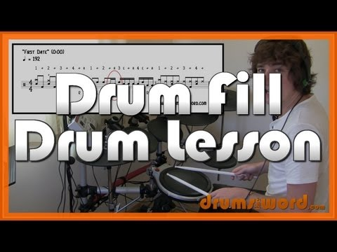 """First Date"" Drum Fill Drum Lesson (Travis Barker & Blink 182)"