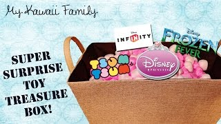getlinkyoutube.com-Super Surprise TOY Treasure Box!! Ep3 TsumTsum, Frozen Fever, Disney Princesses, Infinity