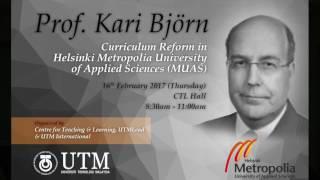 Curriculum Reform in Helsinki Metroplolia University of Appied Science (MUAS) - Part3