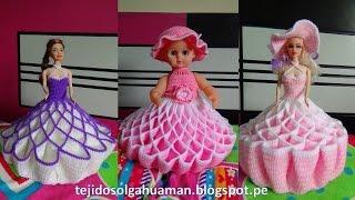 getlinkyoutube.com-vestido tejido a crochet para muñeca, video 1