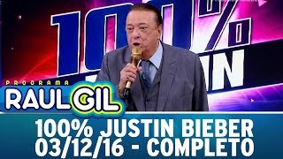getlinkyoutube.com-Programa Raul Gil (03/12/16) - Reta final do concurso 100% Justin Bieber