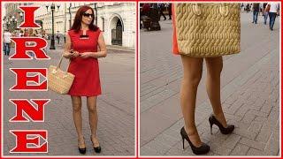 getlinkyoutube.com-Irene S public high heels walking in Moscow.