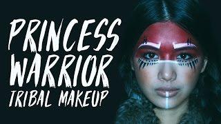 getlinkyoutube.com-PRINCESS WARRIOR | Tribal Makeup