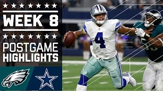 #6 Eagles vs. Cowboys | NFL Week 8 Game Highlights