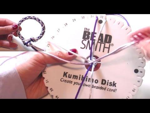 Abalorios manualidades - Pulsera con Telar Kumihimo
