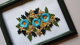 getlinkyoutube.com-Paper Quilling Designs | Wall Frames Flowers DIY | HandiWorks #48