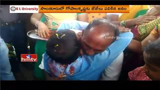Civils 3rd Ranker Gopala Krishna Gets Grand Welcome at Home Town | Palasa | HMTV
