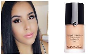 getlinkyoutube.com-Giorgio Armani Foundation For Oily/Combination skin   Review & Demo