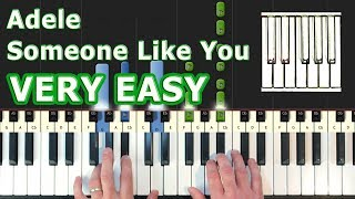 Adele - Someone Like You - Piano Tutorial EASY - How To Play (Synthesia)